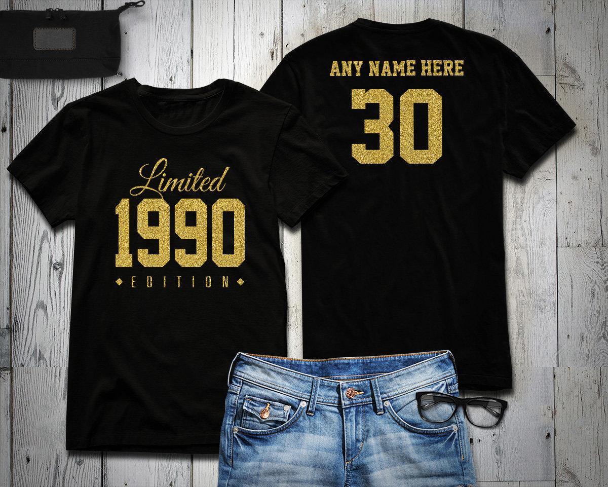 1989 Gold Glitter Limited Edition Birthday T-Shirt