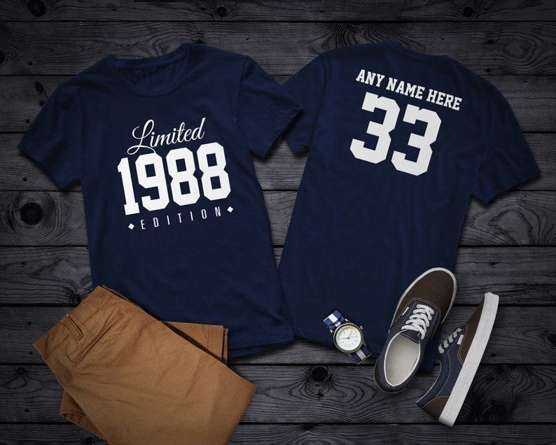 1988 Limited Edition 33rd Birthday Party Shirt 33 years old image 0