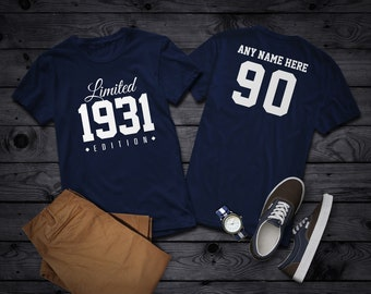 1931 Limited Edition 90th Birthday Party Shirt, 90 years old shirt, limited edition 90 year old, 90th birthday party tee shirt Personalized
