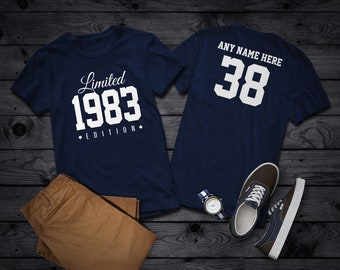1983 Limited Edition 38th Birthday Party Shirt, 38 years old shirt, limited edition 38 year old, 38th birthday party tee shirt Personalized