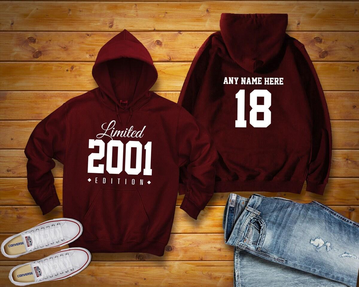 2001 dames de Microsoft Limited sweat Edition anniversaire sweat Limited à capuche 18 personnalisé nom célébration cadeau hommes femmes à capuche pull sweatshirt personnalisé unisexe 44e45a