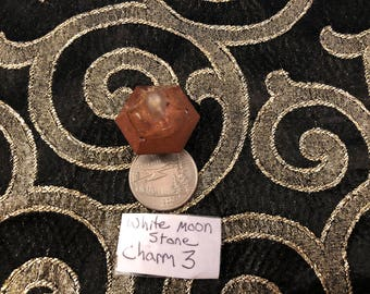 White Moonstone Orgonite Charm #3