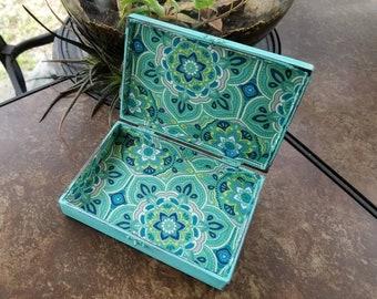 Aqua jewelry box Etsy