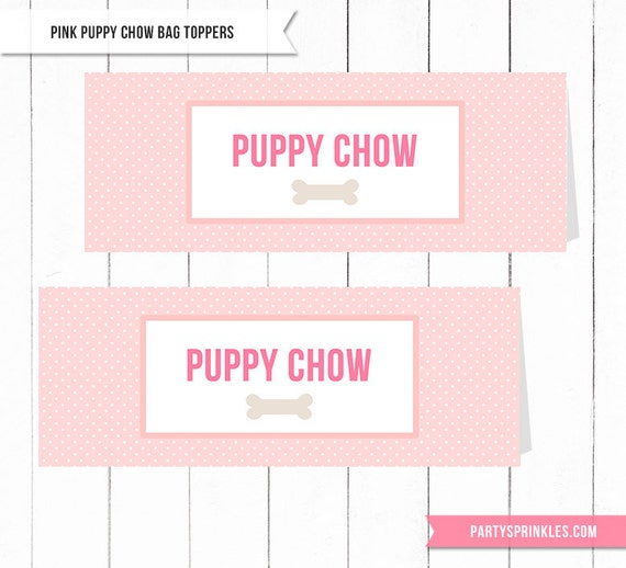 image about Printable Bag Toppers known as Red Dog Chow Goodie Address Bag Toppers - Do it yourself Printable - Immediate Obtain