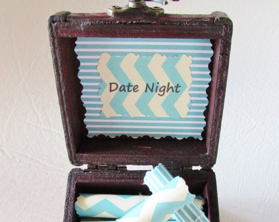 Date Night Scroll Box, 12 Fun Dates in a Wood Box, Gift for HIM, Gift for HER, Birthday Gift, Anniversary Gift, Christmas Gift, Valentines