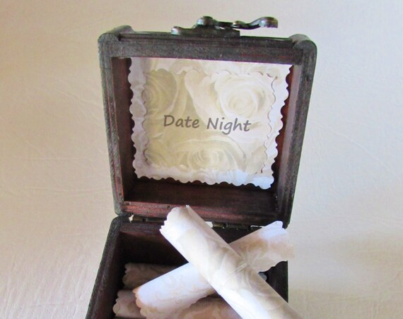 Girlfriend Valentine Wife Gift Date Night Ideas In Wood Box