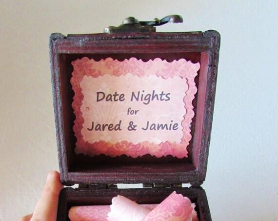 The Date Night Scroll Box - Fun & Romantic Date Night Ideas in a Keepsake Wood Box