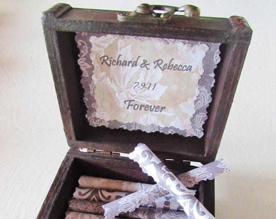 Anniversary Gift Idea Love Scroll Box 5th Anniversary Gift Idea Wood Anniversary Gift Idea Wife Anniversary Husband Anniversary Wood Gift