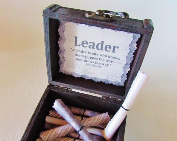 Boss Gift Idea Leadership Scroll Box Motivational Gift Leadership Quote Leadership Quote Boss Card Best Boss Gift Bosses Day Gift Idea Boss