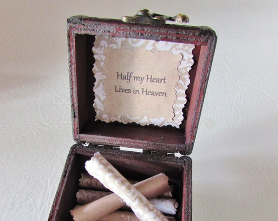 Sympathy Gift - Grief Quote Box - Comforting Quotes in a Wood Box - Bereavement Gift, Loss of Spouse, Loss of Parent, Loss of Sibling