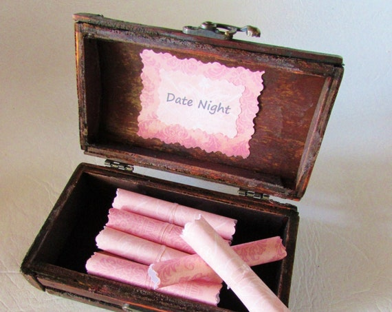 The Date Night Scroll Box - 12 Romantic Dates in a Beautiful Wood Treasure Chest