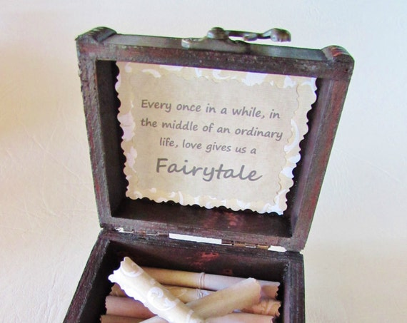 Disney Scroll Box, Romantic Disney Movie Love Quotes in Wood Treasure Chest, Disney Birthday, Disney Anniversary, Disney Love, Disney Quote