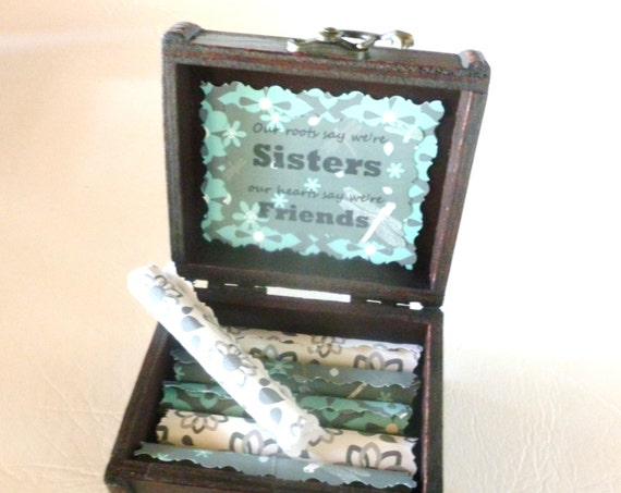 Sister Birthday Gift, Sister Scroll Box, Sister Quotes in Wood Chest, Sister Christmas, Sister Birthday Gift Idea, Sister Gift, Twin Sister