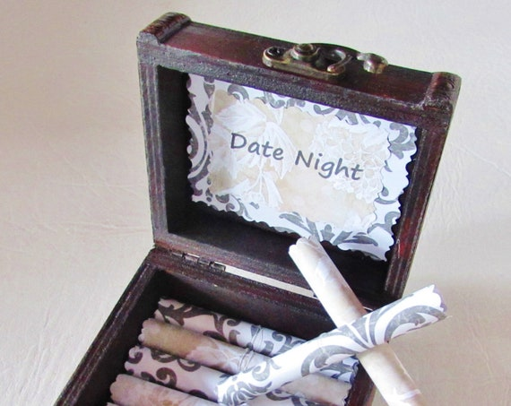 Date Night Scroll Box - Romantic Date Nights in a Wood Box