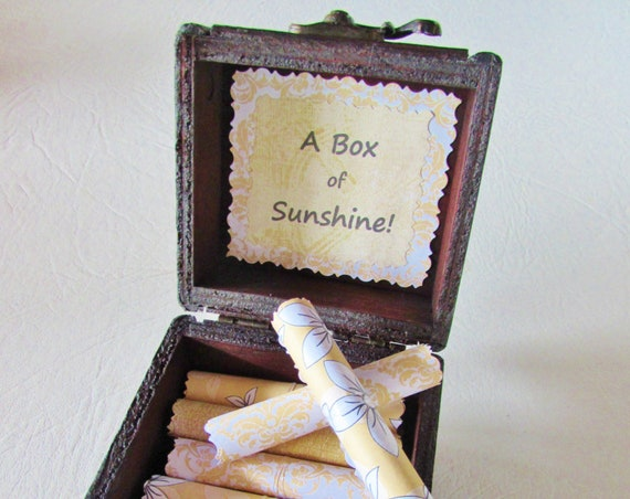 A Box of Sunshine, Cancer Gift, Breast Cancer, Gift, Sunny, Encouraging Quotes in Wood Box, Cancer Encouragement, Inspiring Quote, Sunshine