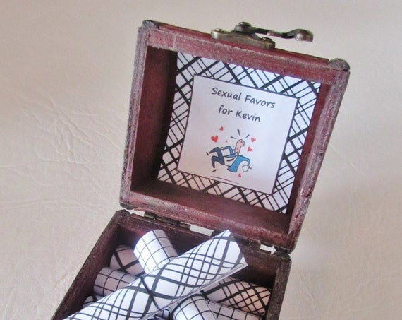 Men Christmas Gift Idea, Sexual Favors Coupon Book Scroll Box, Husband Christmas Gift, Boyfriend Christmas Gift, Husband Birthday Gift