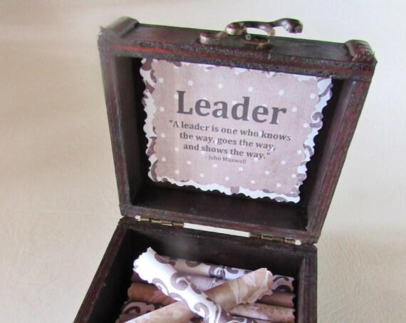 Leadership Scroll Box Leadership Gift Boss Gift Boss Birthday Boss Christmas Coworker Gift Coworker Promotion Boss Day Gift Best Boss Woman