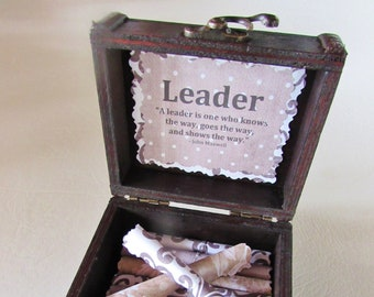 Boss Day Leadership Scroll Box Gift Birthday Christmas Coworker Promotion