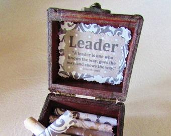 Boss Gift, Boss Gift Idea, Boss Day, Leadership Scroll Box, Best Boss Gift, Leadership Gift, Boss Quote, Best Boss, Boss Christmas, Quote