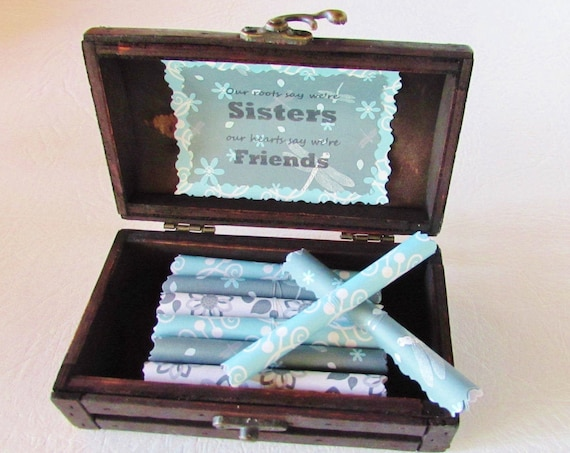 Sister Scroll Box - Sweet Sister Quotes in a Wood Jewelry Box - Sister Birthday Gift - Big Sister Gift - Personalized Sister - Sister Quote