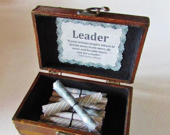 Boss Birthday Gift, Personalized Boss Gift, Leadership Gift, Boss Day Gift, Leadership Quotes in Wood Box, Motivational Gift, Boss Gift Idea