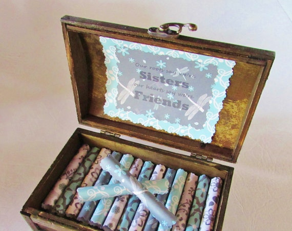 Sister Gift, Sister Birthday, Sister Jewelry, Sister Gift Idea, Sister Quotes in Wood Chest, Personalized Sister Gift, Unique Sister Gift