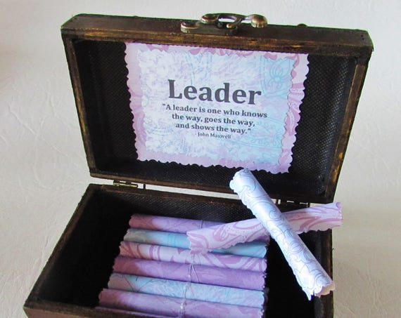 Boss Gift Woman Boss Gift Boss Day Gift Woman Boss Birthday Gift Woman Boss Christmas Gift Leadership Gift Leadership Quotes Scroll Box