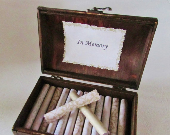 In Memory Sympathy Gift Sympathy Card Bereavement Gift Grief Comfort Scroll Box Memorial Gift Memory Box Sympathy Quotes in Chest Memorial