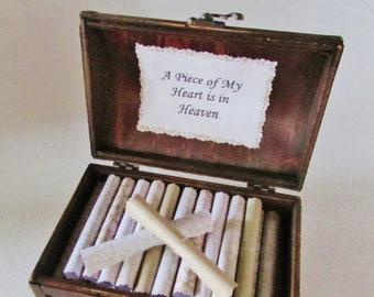 Memorial Scroll Box - comforting quotes in a wood chest - Memorial Gift - In Loving Memory - Bereavement Gift - In Memory - Funeral Gift