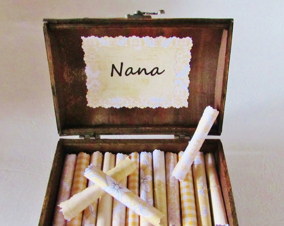Nana Scroll Box - nana quotes on scrolls in a wood jewelry box - nana gift, nana birthday gift, nana christmas gift, nana personalized