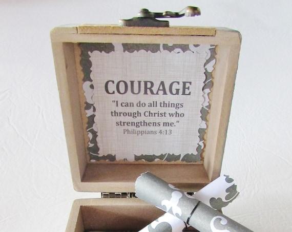 Courage Verse Bible Box