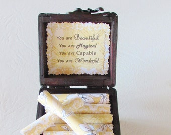 Daughter Quote Box - daughter quotes in a jewelry box - daughter gift - mother daughter gift - unique gift for daughter - daughter birthday