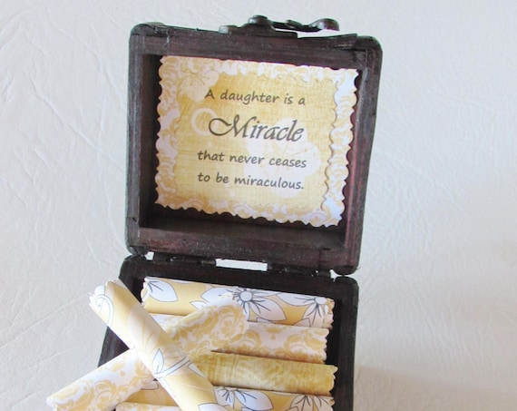 Daughter Scroll Box - Sentimental daughter quotes in a wood box - Daughter Gift - Christmas Gift for Daughter - Daughter Birthday Gift