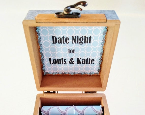 The Date Night Scroll Box - 18 creative, fun, romantic date night ideas in a wood box! Great gift for him - birthday, anniversary, Christmas