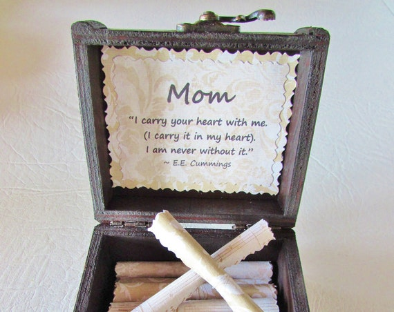 Mom Birthday Gift, Mom Gift, Mother Quotes in Wood Scroll Box, Mother's Day Gift, Mama Gift, Mom Quotes, Personalized Mom Gift