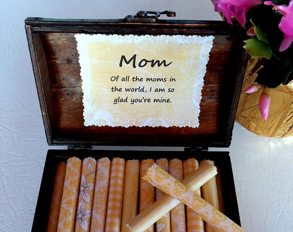 Mother Quote Box, Sweet Quotes about Mothers in a Beautiful Wood Jewelry Box, Mother's Day Gift, Mom Birthday Gift, Unique Mom Gift