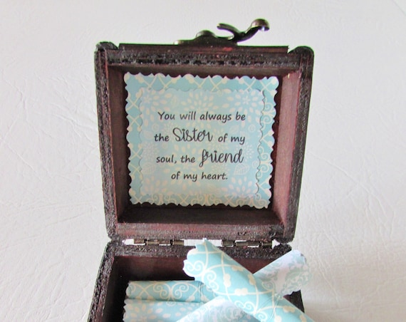 Friend Gift Friend Birthday Gift Friend Christmas Gift Personalized Friend Gift Friend Quotes in Wood Chest Best Friend Gift Unique Friend