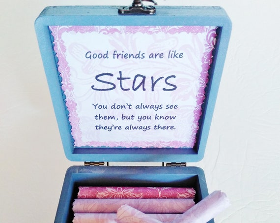Friend Scroll Box - Friendship and Goodbye Quotes in a Ceramic & Wood Box - Friend Goodbye Gift - Friend Long Distance - Friend Christmas