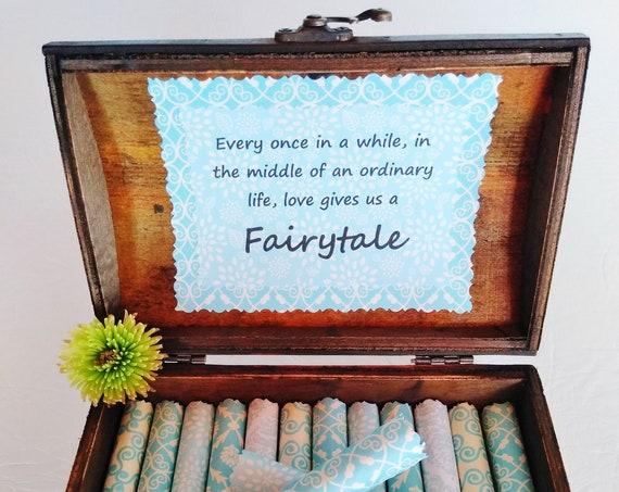 Disney Scroll Box - Romantic Disney love quotes in a beautiful wood box - Disney Gift - Disney Valentine - Disney Anniversary - Disney Fan