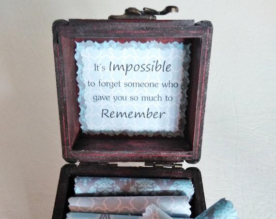 Memorial Scroll Box - Comforting Sympathy Quotes in a Wood Keepsake Box - Sympathy Gift - Bereavement Gift - Memorial Gift - Loss of Husband