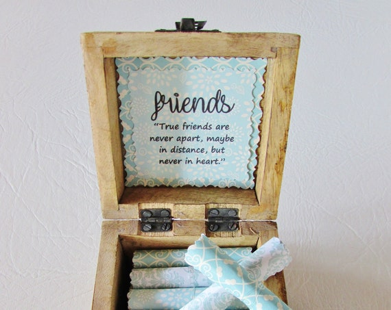 Friend Goodbye Scroll Box - Friendship and Goodbye Quotes in a Gorgeous Wood Box