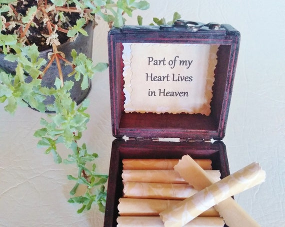 Sympathy Scroll Box - comforting quotes in a keepsake box - bereavement gift, loss of husband, condolence gift, loss of spouse, loss of wife