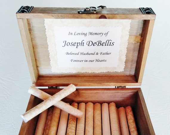 Sympathy Scroll Box - Comforting quotes in a beautiful wood chest - Sympathy Gift - Bereavement Gift - Loss of Dad - Funeral Gift - Memorial