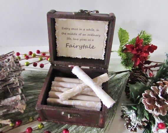 Disney Christmas Gift, Romantic Disney Movie Love Quotes in Wood Treasure Chest, Disney Birthday, Disney Anniversary, Disney Love Quotes