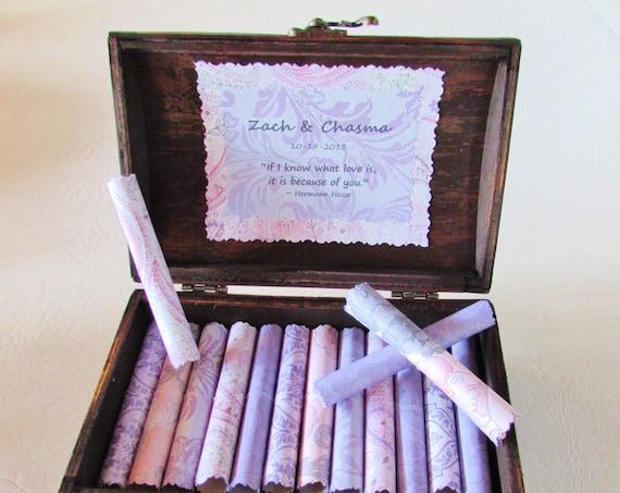 Anniversary Gift 5th Anniversary Wood Anniversary Paper Anniversary 1st Anniversary Wife Anniversary Love Scroll Box Romantic Love Quotes