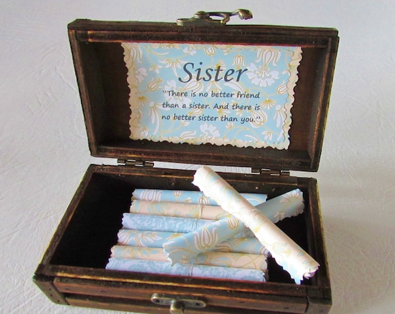 Sister Personalized Gift, Sister Birthday Gift, Sister Gift Idea, Sister Scroll Box, Sister Quote, Big Sister, Twin Sister, My Sister