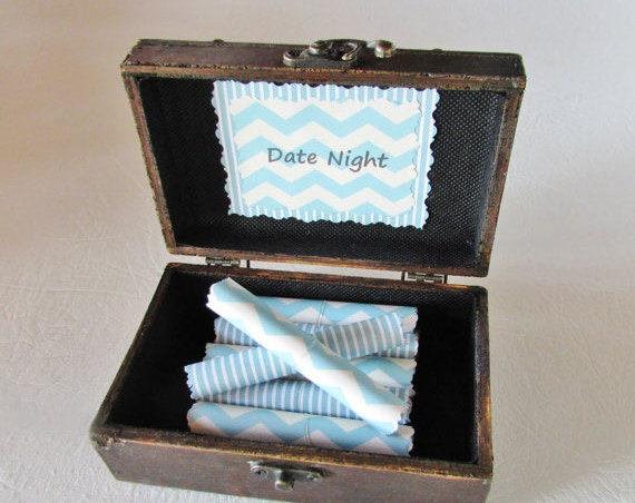 Husband Gift, Boyfriend Gift, Date Night Scroll Box, Date Night Ideas in Wood Box, Valentine Gift, Anniversary Gift, Birthday Gift, Romantic