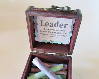Leadership Quote Box - boss gift, leadership gift, leadership quote, boss birthday gift, unique boss day gift, leadership team gift
