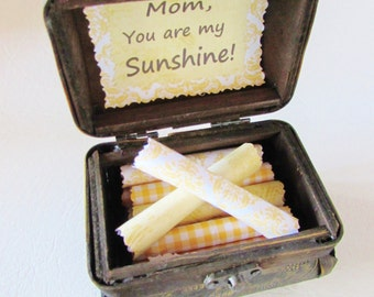 Mom Gift Mothers Day Mother Scroll Box Jewelry Chest Filled With Sunny Quotes Personalized Birthday Christmas