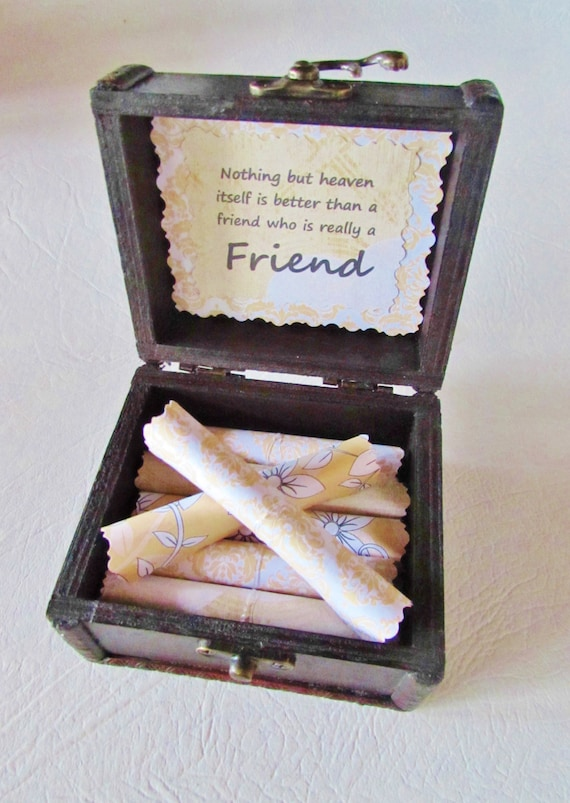 best friend gift box of sunshine uplifting quotes in wood